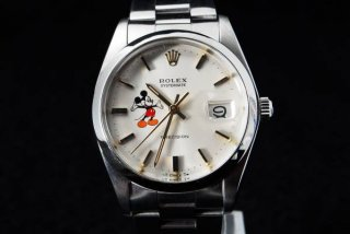 ロレックス オイスターデイト Ref.6694 ミッキーダイアル腕時計