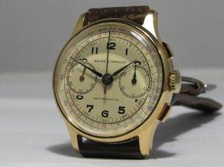 ボーム&メルシエ ビンテージ クロノグラフ メンズ腕時計  高い収集価値