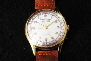 18K ジラール・ペルゴ トリプルカレンダー 腕時計