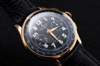 アンティーク18K ブライトリング クロノグラフ 手巻腕時計  中古