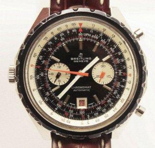 ヴィンテージ ブライトリング ジェネバ 1960年代製 クロノグラフ ワニ革ストラップ付