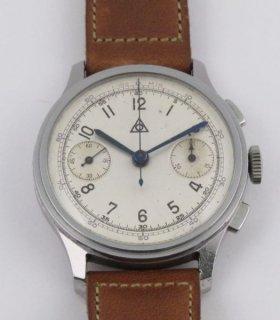 アルピナ アンジェラス215 ヴィンテージ クロノグラフ時計 ベゼル付 1940年代製