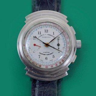 ヴィンテージ 1940年代 クエルボ・イ・ソブリノス製 ハバナ クロノグラフ腕時計