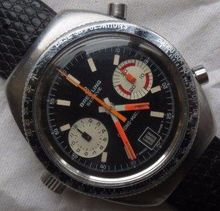 ブライトリング(Breitling)Chrono-Matic 2114 クロノグラフ メンズウォッチ(ブラック) Cal. 11 1970年頃