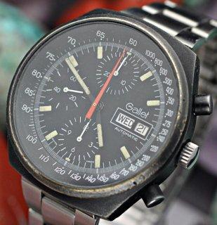 ギャレット マルチクロン12( GALLET Multichron 12)ヴィンテージ クロノグラフ バルジュー 7754搭載(Valjoux 7754 )黒色