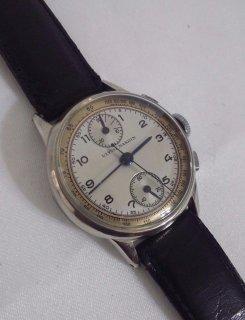 ヴィンテージ ユリスナルダン クロノグラフ ヴァルジュー77 手巻き式腕時計