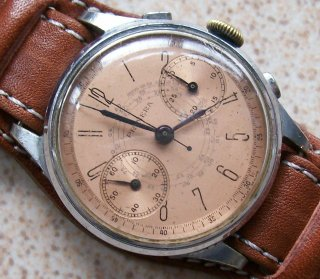 Primeraミリタリータイプ バルジュー22 クロノグラフ腕時計