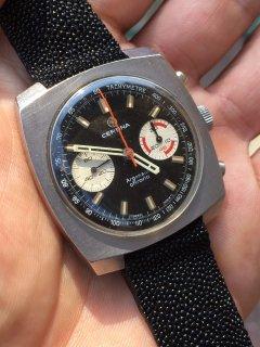 サーチナ(Certina)ヴィンテージ クロノグラフメンズウォッチArgonaut Valjoux 23 1960〜70年代 箱付き