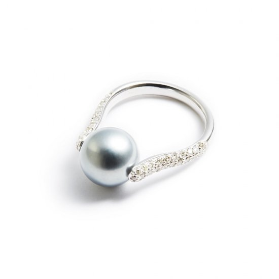 dilemma ring / pearl × diamond 【silver】