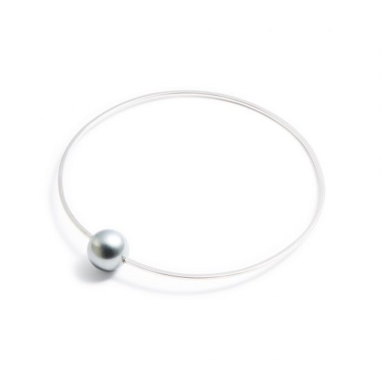 anorexia bracelet / medium pearl 【silver】