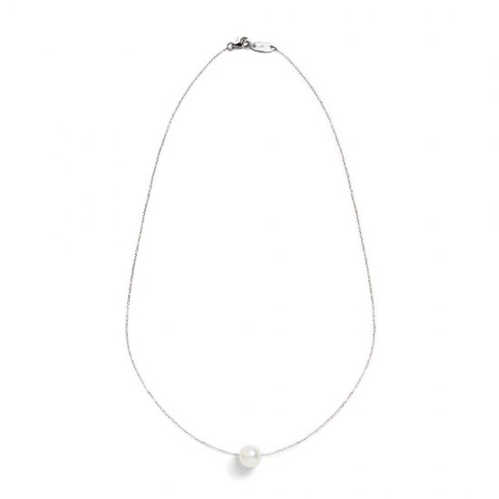 spinster necklace/ pearl 【white】