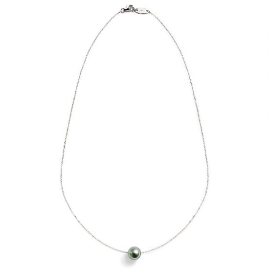 spinster necklace/ pearl 【green】