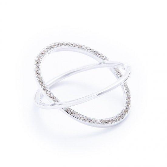 anorexia cross ring / oneside-browndiamond