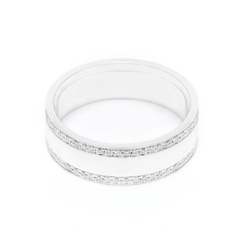 diamond line ring / side