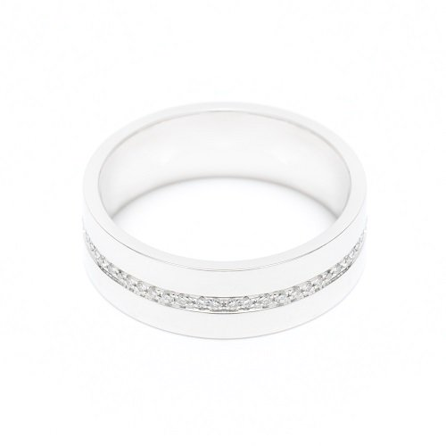 diamond line ring / center