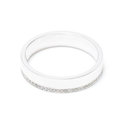 diamond line ring / under