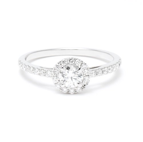 solitaire ring / all diamond