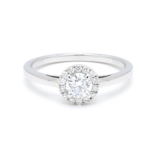 solitaire ring / circle diamond