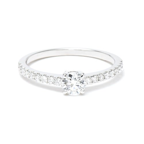 solitaire ring / side diamond