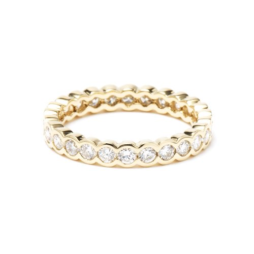 full eternity ring / bazel diamond