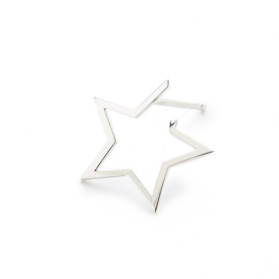 karma pierced earring / small falling star
