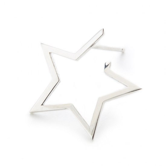karma pierced earring / medium falling star