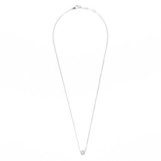 flat charm necklace / full moon×diamond