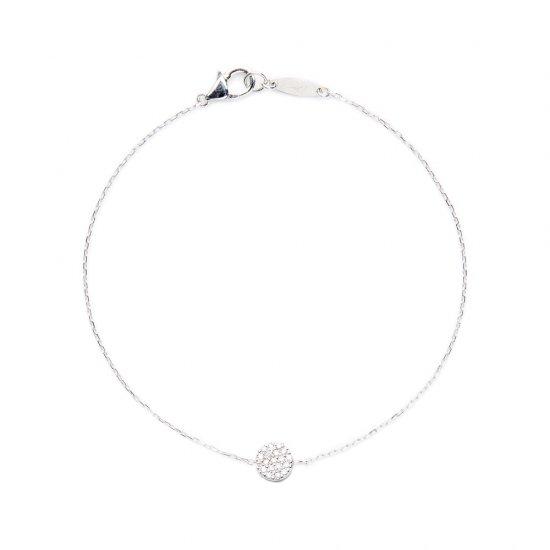flat charm bracelet / full moon×diamond