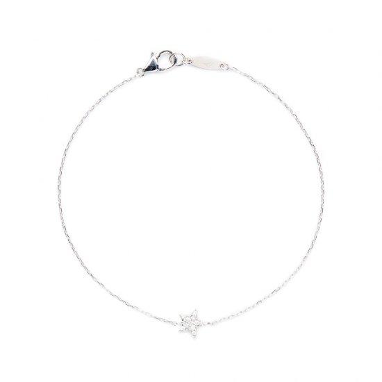 flat charm bracelet / stardust×diamond