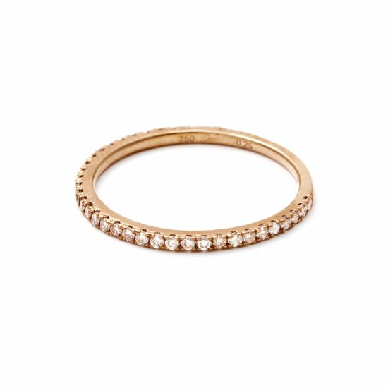 4/5 eternity ring / browndiamond