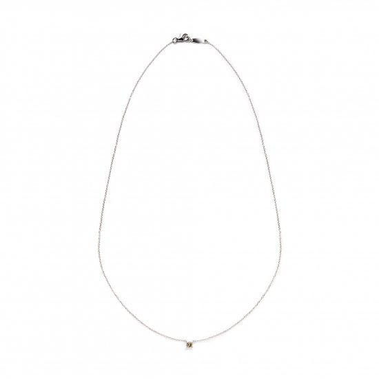browndiamond necklace / solitaire