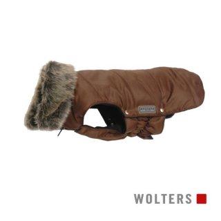 ファーカラーパーカー(毛皮の襟) 30cm ブラウン