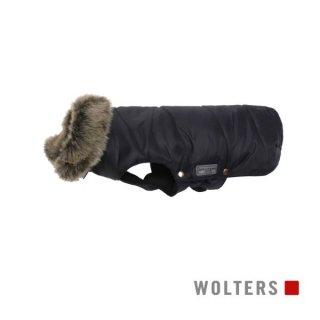 ファーカラーパーカー(毛皮の襟) 30cm ブラック