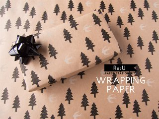 【WRAPPING PAPER】森と鳥