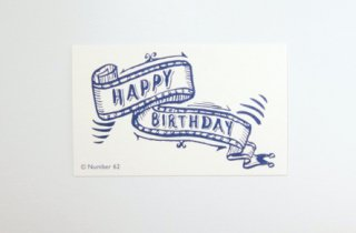 【No.62】ミニカード〈Birthday Navy〉