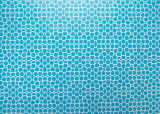 【3120】Printed wrapping paper[bubble/Aqua]