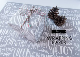 【WRAPPING PAPER】Xmas(グレー)
