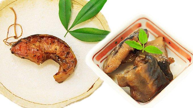 チョウザメ燻製と煮付セット_写真1