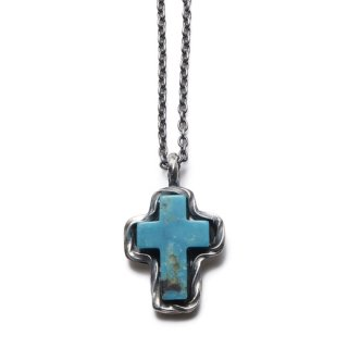 CRIMIE 「G&G STONE CROSS」 クロスネックレス ■BLUE