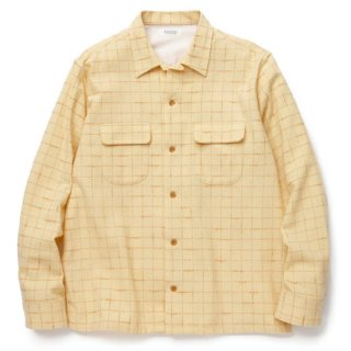 RADIALL 「ICE COLD - OPEN COLLARED SHIRT L/S」 ウールオープンカラーシャツ ■YEL
