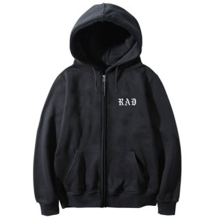 RADIALL 「CHAPT HOOD - ZIP UP PARKA」 ジップスウェットパーカー ■BLK