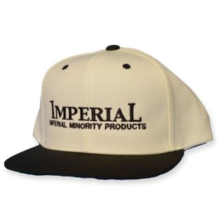 IMPERIAL 「LOGO BB CAP」  スナップバックキャップ ■WHT/BLK