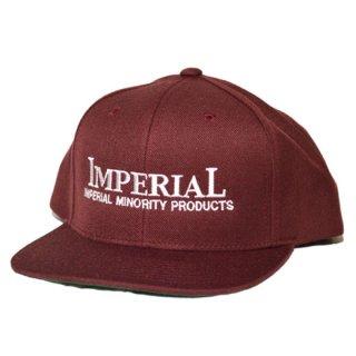 IMPERIAL 「LOGO BB CAP」  スナップバックキャップ ■BURG