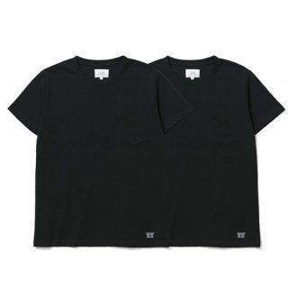 CRIMIE 「PREMIUM CREW NECK 2P-PACK POCKET T-SHIRTS」 2パックTシャツ ■BLK