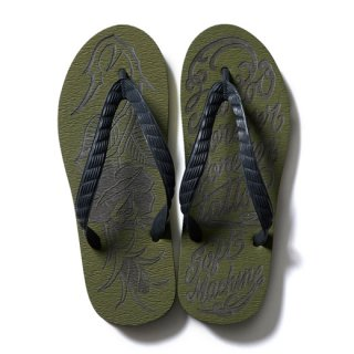 SOFTMACHINE 「CARVES SANDAL」 ビーチサンダル ■OLIVE