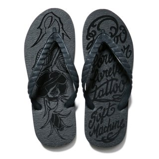 SOFTMACHINE 「CARVES SANDAL」 ビーチサンダル ■BLK