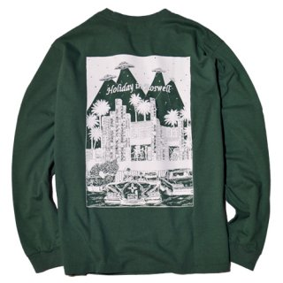 <img class='new_mark_img1' src='//img.shop-pro.jp/img/new/icons14.gif' style='border:none;display:inline;margin:0px;padding:0px;width:auto;' />RADIALL 「HOLIDAY - CREW NECK T-SHIRT L/S」 ロングスリーブTシャツ ■GRN