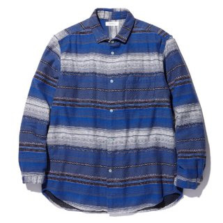 RADIALL 「EL CAMINO - REGULAR COLLARED SHIRT L/S」 ジャガードシャツ ■CHILLING BLUE