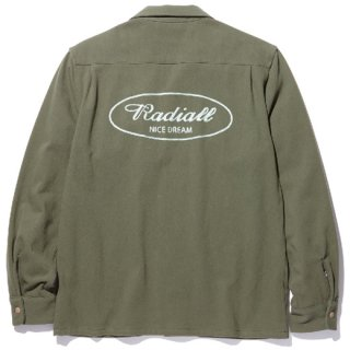 RADIALL 「ROAD SIDE - OPEN COLLARED SHIRT L/S」 オープンカラーシャツ ■OLIVE