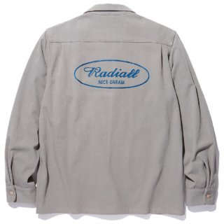 RADIALL 「ROAD SIDE - OPEN COLLARED SHIRT L/S」 オープンカラーシャツ ■GRY